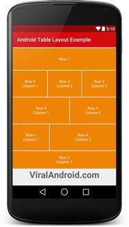 layouts for android android table layout exle viral android tutorials