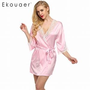 aliexpresscom buy ekouaer sexy nightwear lace patchwork With robe 3 4