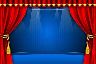 Stage Curtain Background Curtains Vector Banner Graphic