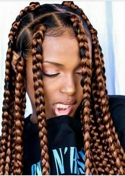 Braids Jumbo Hairstyles Box Braid Bun Hair