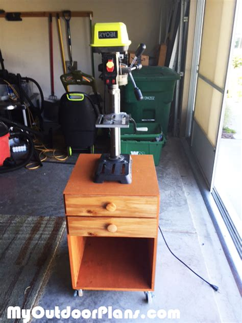 diy drill press stand myoutdoorplans  woodworking