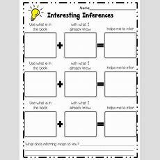 Inference Graphic Organizer  Math Strategies