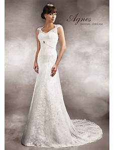 agnes 11274 ivory lace wedding dress with train With shop designer wedding dresses
