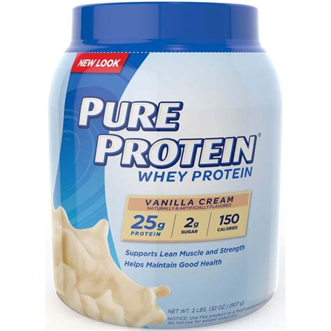 Amazon.com: Pure Protein 100 % Whey Protein, Vanilla Cream