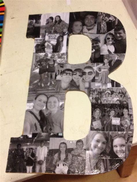 mod podge pictures on wood letters take a large cardboard or wooden letter black and white 12886