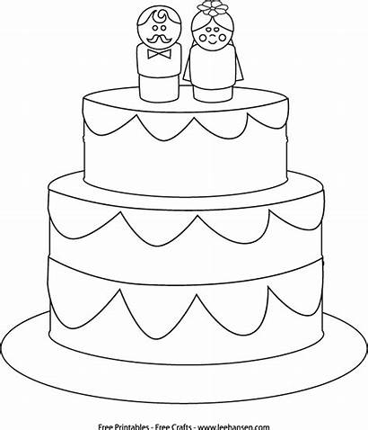 Coloring Cake Pages Printable Diy Books Cakes