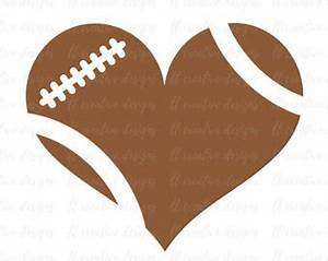 Football Heart Football Love SVG Football SVG Football Cut