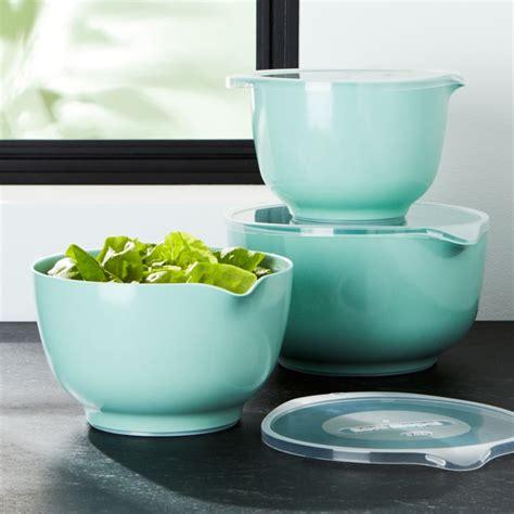 rosti retro green melamine mixing bowls  lids set