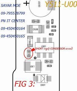 Huawei Y511-u00 Vbat Short Solution  U1031 U101c U1038 U1015 U102b U104b