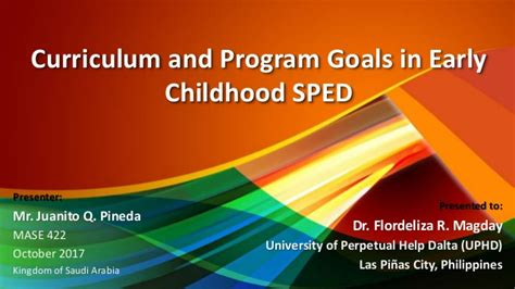 curriculum  program goals  early childhood special