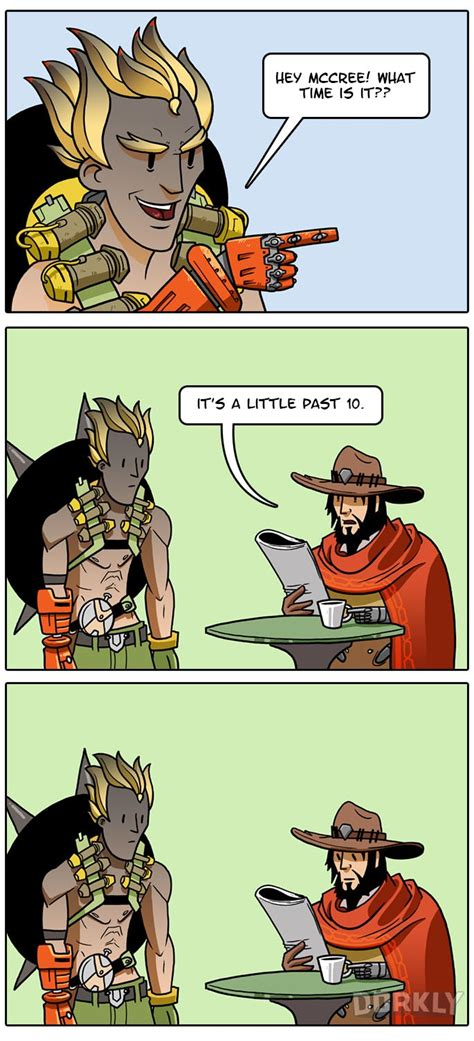 Mcree Memes - how mccree acts now that he s been nerfed dorkly post