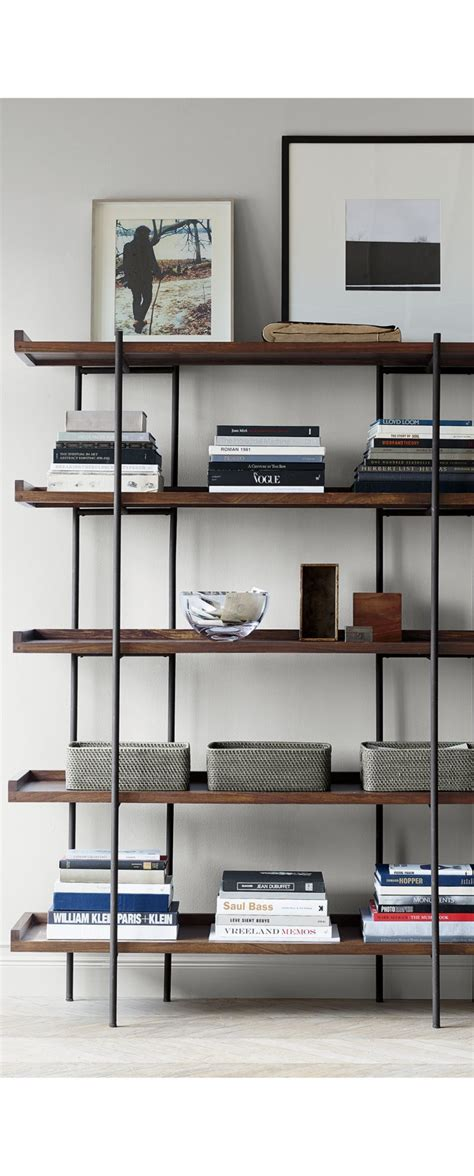 High Bookshelves by Beckett 5 High Shelf Crate And Barrel For The Home