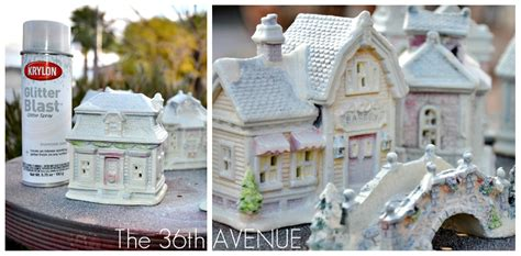 All White Christmas Village