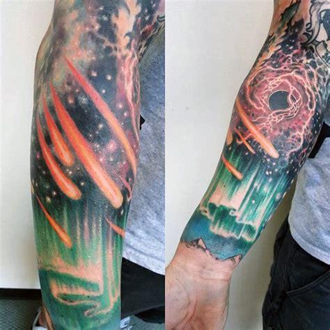 northern lights tattoo designs  men aurora