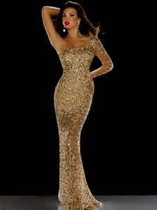 Gold Sequin Mermaid Prom Dress