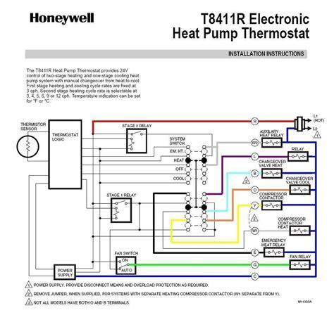Goodman Heat Pump Thermostat Wiring Diagram To Honeywell Wiring Diagram
