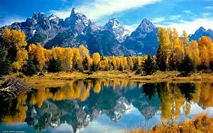 Mountain, Lake, Reflection, Trees, Fall, Canada, Wallpapers