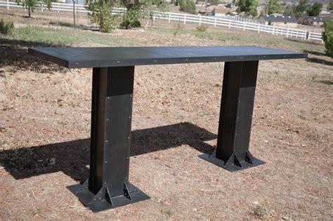 buy a custom made vintage modern industrial table steel or
