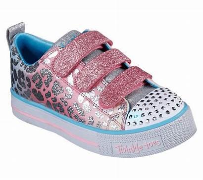 Twinkle Sparkle Toes Lite Skechers Spots Shoes