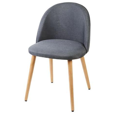 chaise tissu gris macaron chaise en tissu gris anthracite pieds en bois