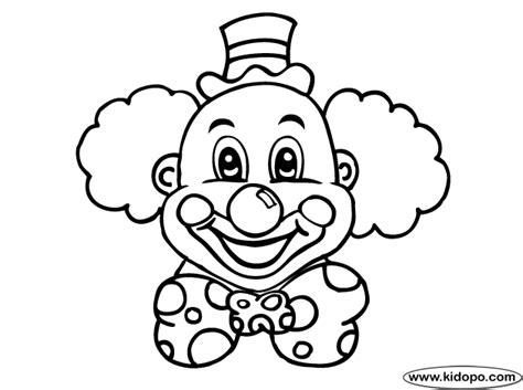 clown template printable clown coloring pages printable