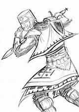 Crusader Coloring Pages Drawing Knights Getcolorings Sketch Printable Pal Getdrawings sketch template