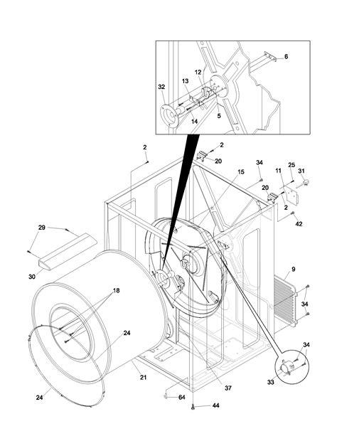 cabinet drum diagram parts list for glgr341as4 frigidaire parts dryer parts