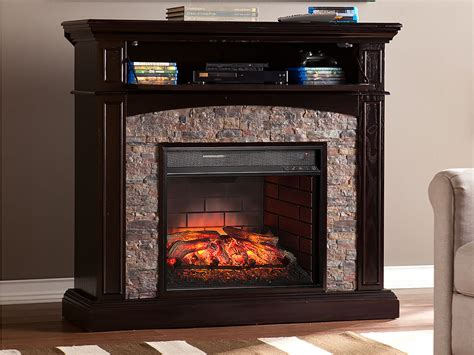 Grantham Ebony Infrared Electric Fireplace Media Cabinet