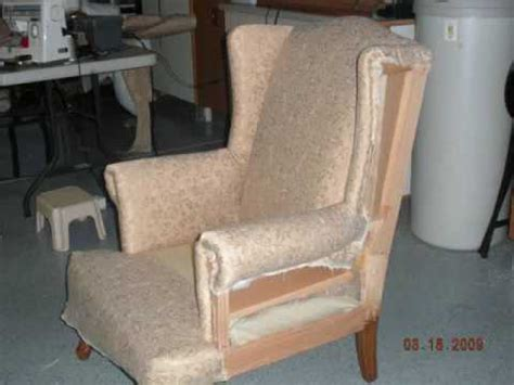 Diy Wing Chair Reupholster Youtube