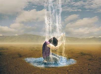 God Rain Desert Water Living Sees Thirst