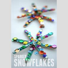 Toddler Approved! Sparkly Snowflake Craft For Kids