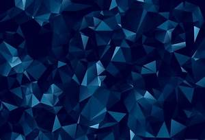 Abstract dark blue polygonal background | HD Wallpapers ...
