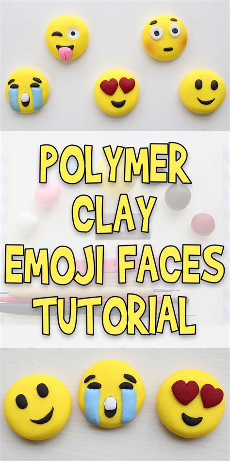 polymer clay emoji faces tutorial woo jr kids activities