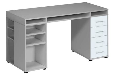 bureau 150 cm bureau cooper 150 cm breed grijs met wit 0 00