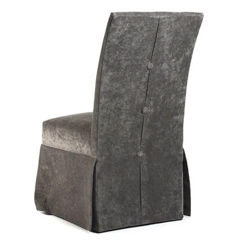 raquel hollywood regency gray velvet tufted dining chair
