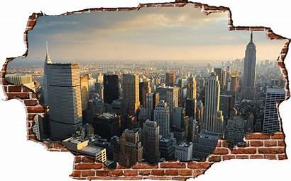 Skyline York Breaking Decals Zapwalls Nyc Cities