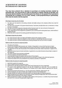 due diligence checklist With legal due diligence report template