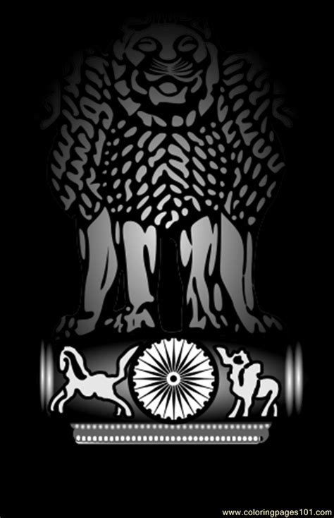 emblem  indiasvg coloring page  india coloring pages coloringpagescom