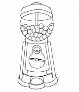 Gumball Machine Coloring Gum Bubble Drawing Getdrawings Printable Getcolorings Club sketch template