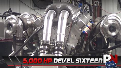 World S Most Powerful Engine by This 5 000hp V16 Is The Most Powerful Production Car