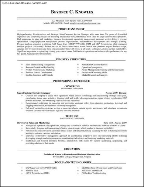Executive Level Resume Template by Executive Level Resume Template Free Sles Exles
