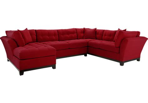 rooms to go chaise metropolis cardinal 3pc sectional living