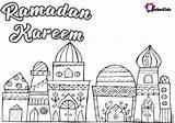 Ramadan Coloring Mosque Kareem Bubakids sketch template