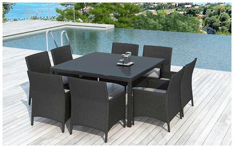 table et chaise de jardin en resine tressee table et chaises d 39 extérieur en résine 8 places jardin