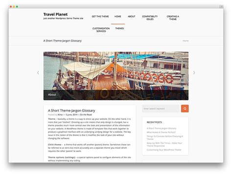 responsive  travel wordpress themes