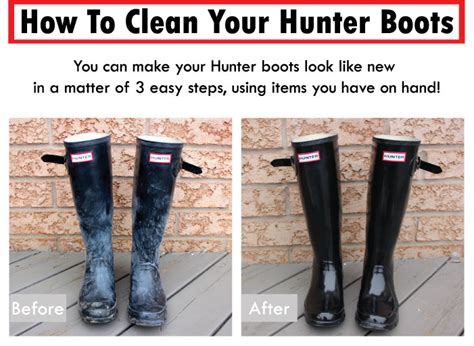 how to wash something how to clean hunter boots something about that