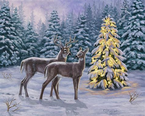 whitetail painting by crista forest