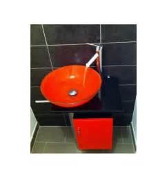Salle De Bain Orange : ensemble de salle de bain manresa orange meuble salle de bain une vasque d coration salle de ~ Preciouscoupons.com Idées de Décoration
