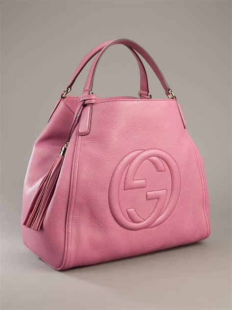 gucci soho large sized bag  pink lyst