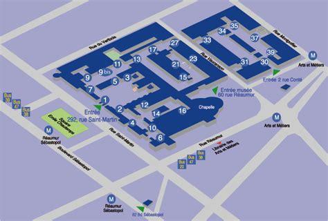 bureau jean prouvé plan des cnam du 3e arrondissement